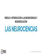 1 1 Las Neurociencias Pdf Módulo I Introducción A Las