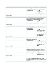 Module 4 Quiz - Permissions granted in an electronic health record system involve which of the
