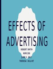 Effects of advertising- Robert Smith.pptx