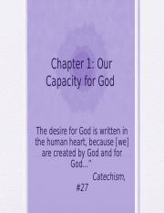 Essentials Chapter 1 - Our Capacity for God