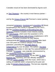 Canadian visual art has been dominated by figures such as.docx