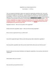 Negotiation Journaling Assignment 1 Fall 2016.docx