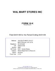 walmart 10k report