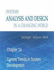 Chapter14 Ppt Chapter 14 Current Trends In System Development Systems Analysis And Design In A Changing World 6th Edition 1 Three Current Course Hero