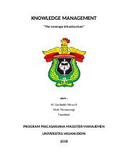 Implementasi Knowledge Management System di Perusahaan - Mirza.docx