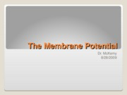 8-28-09 The Membrane Potential