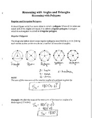 Math 2201 Reasoning with Angles and Triangles Notes