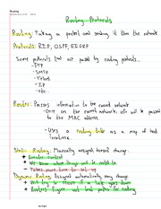 Routing Protocols Notes