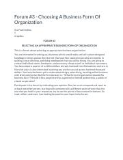 Choosing A Business Form Of Organization.docx