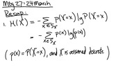 Lecture 27 on Join and conditional entropy