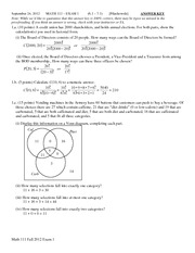 MATH 111 Fall 2012 Exam 1 Solutions