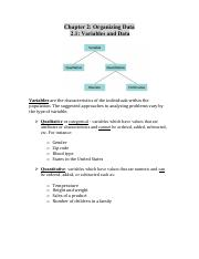 Stats Ch.2 Notes