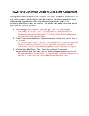 Power of a Dissenting Opinion_Dred Scott Assignment Handout.docx