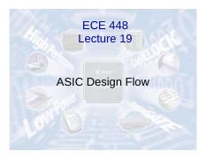 Lecture19_ASIC_Design_Flow