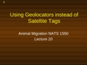 Presentation 20 - Navigation and Geolocators