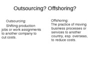 offshoring notes