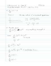 3.3 - Differentiation Formulas