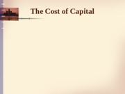Cost of capital - handout