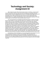 Assignment 2 Student Solution - Why the future doesn't need us