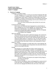 ANTHRO 102- Chapter 4 notes