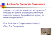 Lecture 3 Corporate Governance