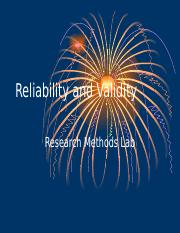 15_Reliability and Validity
