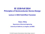 EE121B 2014F Lecture 4-MOSFET-updated2