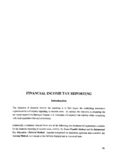Financial Income Tax Reporting