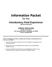 Introductory Field Experience Packet