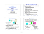 CS 162 Operating Systems and Systems Programming Synchronization Lecture Notes