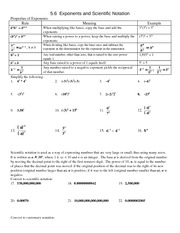 Study Guide on Exponents & Scientific Notation