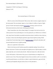 Environmental Impacts of Deforestation Essay.docx
