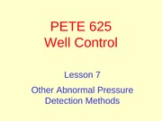 7. Other Abnormal Pressure Detection Methods