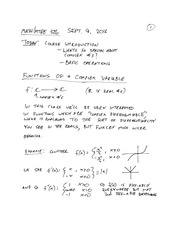 MTHE 326 Lecture 1 Notes