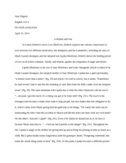 Multi-Character/Story Analysis on Love Medicine Paper