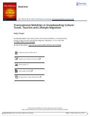 Transnational Mobilties in Snowboarding Culture Travel Tourism and Lifestyle Migration.pdf