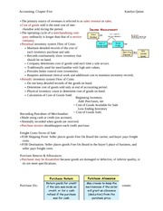 Accounting Notes 5&6