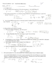 Physics- Elastic collisions worksheet - Physics Worksheet 6 6 ...