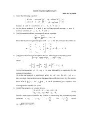 Control Engineering Homework (Chapter 2) (5)