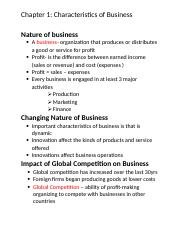 Nature of business.docx