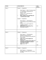 Wkly 2014 BCOM 5203 Assignments
