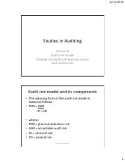 Studies in Auditing- Lecture 8.pdf