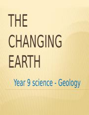 1. The Changing Earth.pptx