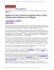 Shutdown of Texas Schools Investigation...dministration Pullback on Civil Rights.pdf