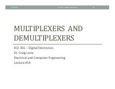 Lecture 14 - Multiplexers and Demultiplexers.pdf
