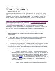 Psy 331 week 4 discussion 2.docx