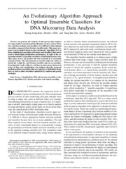 Kim, Cho_2008_An evolutionary algorithm approach to optimal ensemble classifiers for DNA microarray