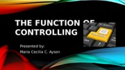 The Function of Management Control