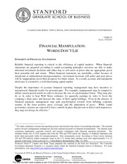 Financial Manipulation