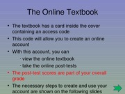 (3) The Online Textbook